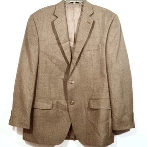 IZOD Tan Suit Jacket Blazer Sport Coat 42S Camel